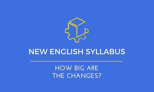New English Syllabus – So how big are the changes to the new English Syllabus?