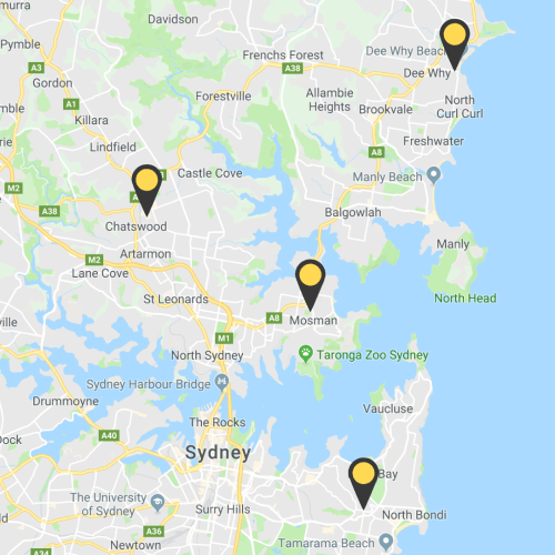 HSC CoWorks Sydney Campuses Map Directory