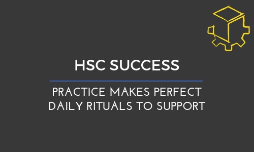 Daily practice makes perfect. Daily rituals to support.